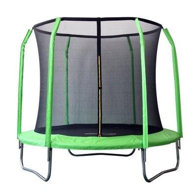 Покупка  Батут SportElite GB30201-8 FT (2,44м) фиберглас, с защитной сеткой внутрь, салатовый   в магазине IntexRelax с доставкой или самовывозом