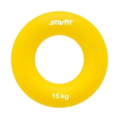 """Покупка  Эспандер кистевой StarFit ES-404 """"Кольцо"""" 15 кг жёлтый   в магазине IntexRelax с доставкой или самовывозом"""
