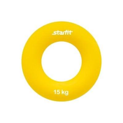 """Покупка  Эспандер кистевой StarFit ES-403 """"Кольцо"""" 15 кг жёлтый   в магазине IntexRelax с доставкой или самовывозом"""