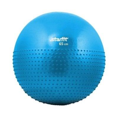 Покупка  Мяч гимнастический полумассажный STARFIT GB-201 65 см антивзрыв, синий   в магазине IntexRelax с доставкой или самовывозом