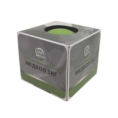 Покупка  Медбол Lite Weights 1703LW 3 кг (салатовый)   в магазине IntexRelax с доставкой или самовывозом