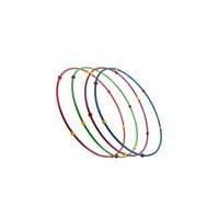 Обруч гимнастический стальной с массажными шариками 0,9 м