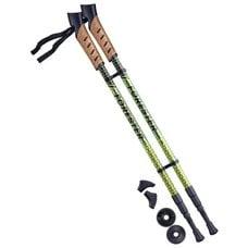 Палки для скандинавской ходьбы Berger Forester 67-135 см 3-секционные, болотный/жёлтый