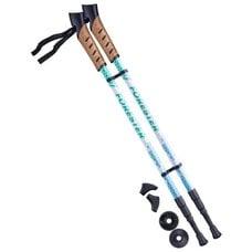 Палки для скандинавской ходьбы Berger Forester 67-135 см 3-секционные, белый/мятный