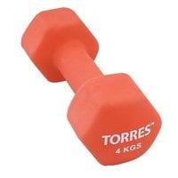 Гантель неопреновая Torres 4 кг арт.PL55014