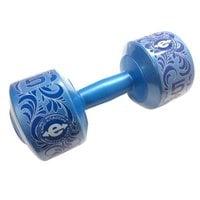 Гантель (1 шт) винил 5 кг синяя