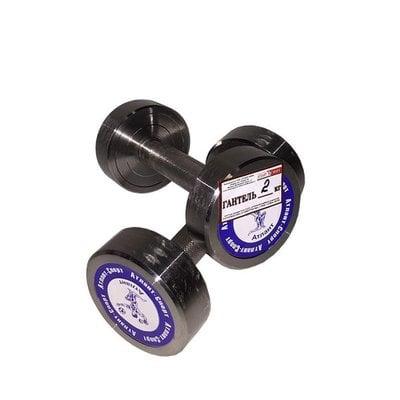 Покупка  Гантель неразборная (1 шт) АТЛАНТ 2 кг   в магазине IntexRelax с доставкой или самовывозом