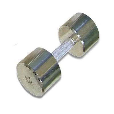 Покупка  Гантель (1шт) 9 кг хром MB Barbell   в магазине IntexRelax с доставкой или самовывозом