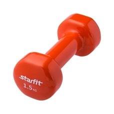 Гантель виниловая StarFit DB-101 1,5 кг оранжевая