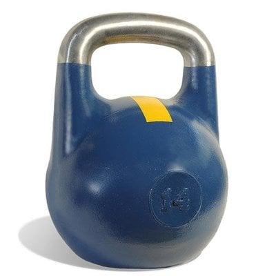 Покупка  Гиря чемпионская Titan 14 кг (синяя с желтой полосой)   в магазине IntexRelax с доставкой или самовывозом