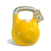 Гиря чемпионская Titan 10 кг (желтая с белой полосой)