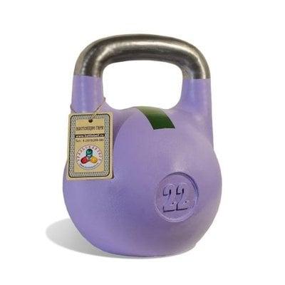 Покупка  Гиря чемпионская Titan 22 кг (фиолетовая с зеленой полосой)   в магазине IntexRelax с доставкой или самовывозом