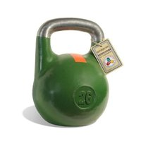 Гиря чемпионская Titan 26 кг (зеленая с оранжевой полосой)