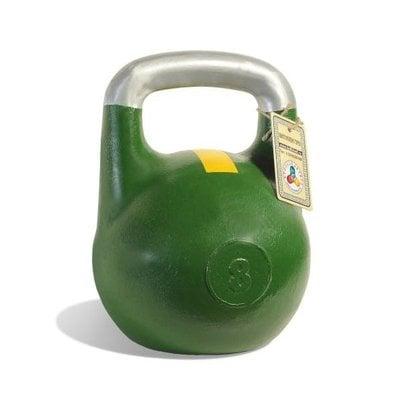 Покупка  Гиря чемпионская Titan 8 кг (зеленая с желтой полосой)   в магазине IntexRelax с доставкой или самовывозом
