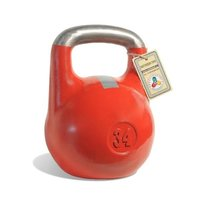Гиря чемпионская Titan 34 кг (красная с серой полосой)