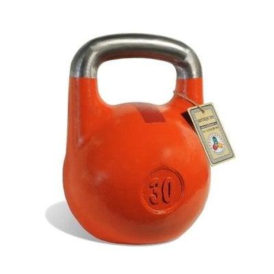 Покупка  Гиря чемпионская Titan 30 кг (оранжевая с красной полосой)   в магазине IntexRelax с доставкой или самовывозом