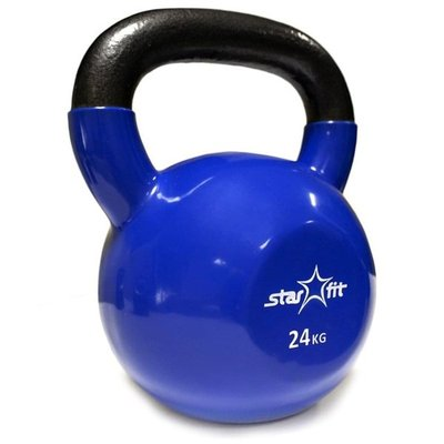 Покупка  Гиря чугунная с виниловым покрытием StarFit DB-401 24 кг темно-синяя   в магазине IntexRelax с доставкой или самовывозом