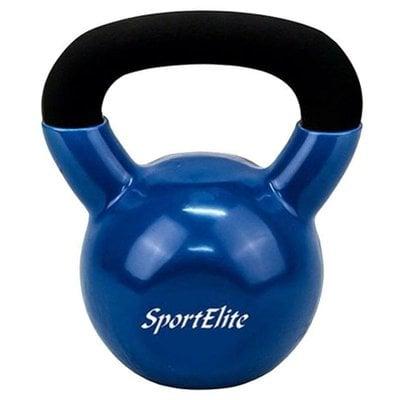 Покупка  Гиря чугунная с виниловым покрытием SportElite 24 кг   в магазине IntexRelax с доставкой или самовывозом