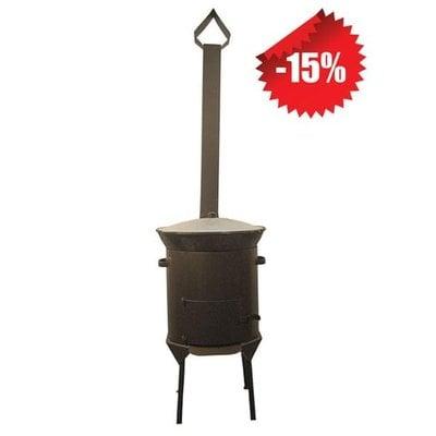 Покупка  Казан чугунный 12 л + Печь с трубой (комплект) -15%   в магазине IntexRelax с доставкой или самовывозом