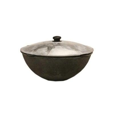Покупка  Казан чугунный с крышкой (с круглым дном) 18 л   в магазине IntexRelax с доставкой или самовывозом