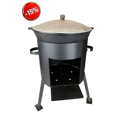 Покупка  Казан чугунный 12л + печь (комплект)   в магазине IntexRelax с доставкой или самовывозом