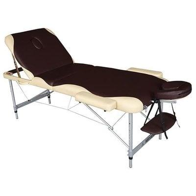 Покупка  Массажный стол DFC Nirvana Elegant Pro Brown/Beige   в магазине IntexRelax с доставкой или самовывозом
