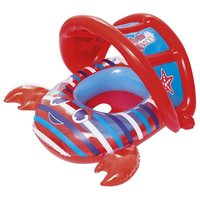 Надувная лодочка с отверстиями для ног и тентом Bestway 34109 (6-18 мес) красная