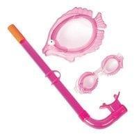 Набор для плавания Bestway 24019 (маска, трубка, очки) 3+ розовый