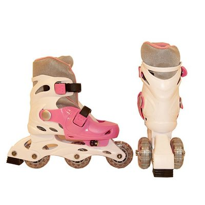 Покупка  Коньки роликовые Action PW-120-1 (белый/розовый) р.31-34   в магазине IntexRelax с доставкой или самовывозом
