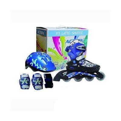 Покупка  Набор Action PW-780 : коньки ролик, защита, шлем р. 30-33   в магазине IntexRelax с доставкой или самовывозом