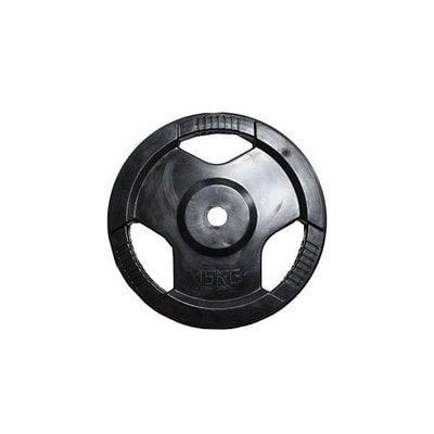 Покупка  Диск обрезиненный черный с ручками H-310 d-31 15кг   в магазине IntexRelax с доставкой или самовывозом