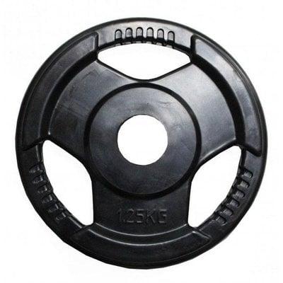 Покупка  Диск обрезиненный черный с ручками H-310 d-31 1,25кг   в магазине IntexRelax с доставкой или самовывозом
