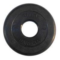 Диск обрезиненный черный Atlet Barbell d-51 2,5 кг