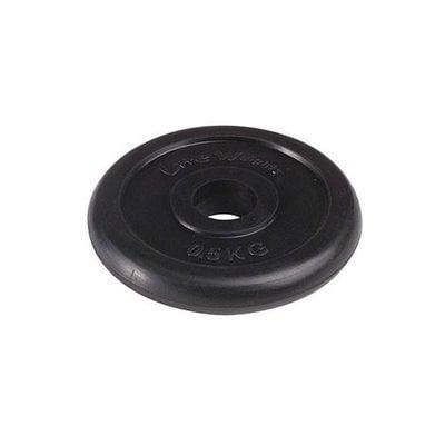 Покупка  Диск обрезиненный черный Lite Weights RJ1030 d-26 0,5 кг   в магазине IntexRelax с доставкой или самовывозом