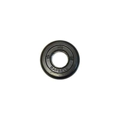 Покупка  Диск обрезиненный черный MB Barbell d-51 1.25 кг   в магазине IntexRelax с доставкой или самовывозом