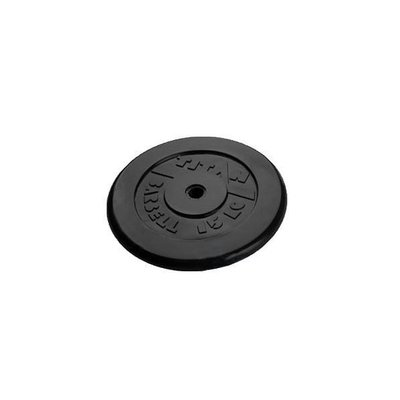 Покупка  Диск обрезиненный черный Titan Barbell d-31 15 кг   в магазине IntexRelax с доставкой или самовывозом