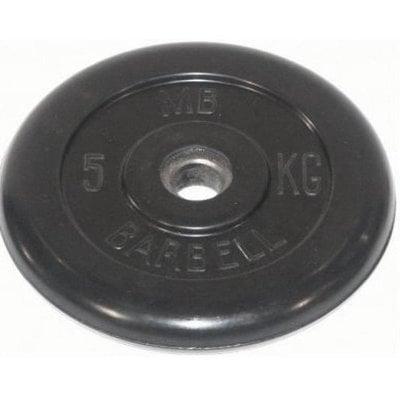 Покупка  Диск обрезиненный черный MB Barbell d-26 5 кг   в магазине IntexRelax с доставкой или самовывозом