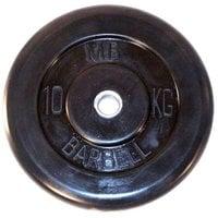 Диск обрезиненный черный MB Barbell d-51 10 кг