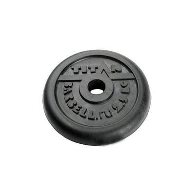 Покупка  Диск обрезиненный черный Titan Barbell d-31 2,5 кг   в магазине IntexRelax с доставкой или самовывозом