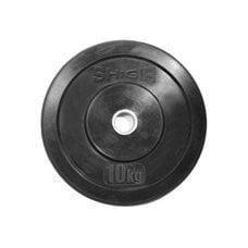 Диск для кроссфита (бампер) черный Shigir 10 кг