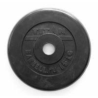 Диск обрезиненный черный Titan Profy d-51 15 кг