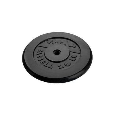 Покупка  Диск обрезиненный черный Titan Barbell d-26 20 кг   в магазине IntexRelax с доставкой или самовывозом