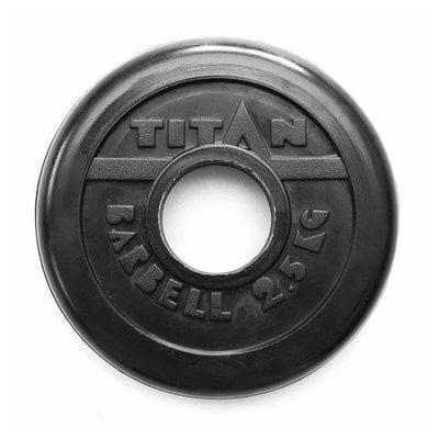 Покупка  Диск обрезиненный черный Titan Profy d-51 2,5 кг   в магазине IntexRelax с доставкой или самовывозом