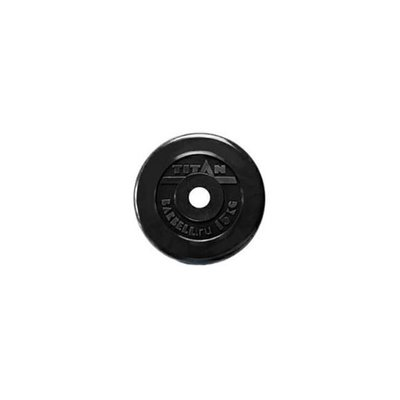 Покупка  Диск обрезиненный черный Titan Barbell d-51 15 кг   в магазине IntexRelax с доставкой или самовывозом