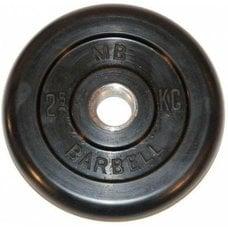 Диск обрезиненный черный MB Barbell d-26 2.5 кг
