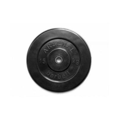 Покупка  Диск обрезиненный черный Arsenal Barbell d-26 15 кг   в магазине IntexRelax с доставкой или самовывозом