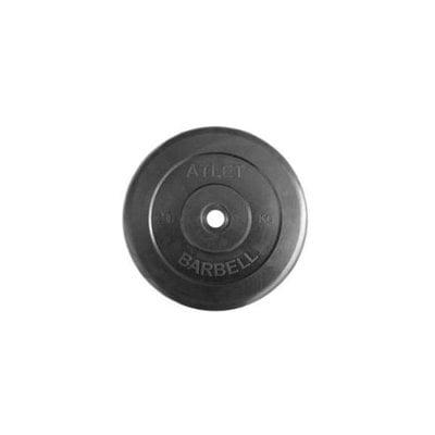 Покупка  Диск обрезиненный черный Atlet Barbell d-26 20 кг   в магазине IntexRelax с доставкой или самовывозом