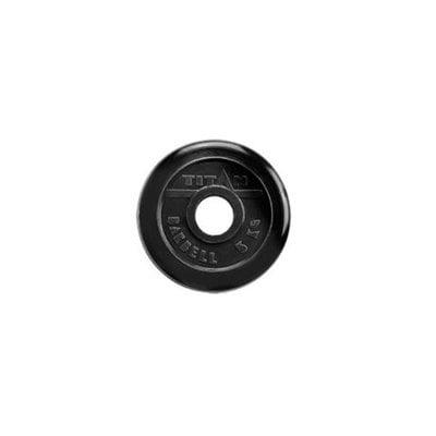 Покупка  Диск обрезиненный черный Titan Barbell d-51 5 кг   в магазине IntexRelax с доставкой или самовывозом
