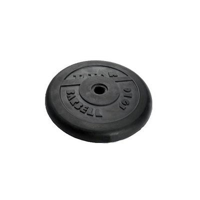 Покупка  Диск обрезиненный черный Titan Barbell d-31 25 кг   в магазине IntexRelax с доставкой или самовывозом