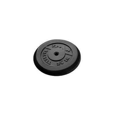 Покупка  Диск обрезиненный черный Titan Barbell d-26 25 кг   в магазине IntexRelax с доставкой или самовывозом